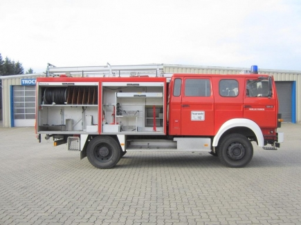 Neues Fahrzeug : Hat seinen Bestimmungsort in der Region Calarasi in Moldawien noch nicht gefunden . Das Löschfahrzeug, das die Einsiedler Rotarier samt Ausrüstung zur Verfügung stellen.